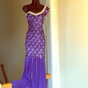 CUSTOM pageant gown sz 0-2 TALL in length prom